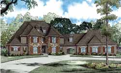 European Style House Plans Plan: 12-1169