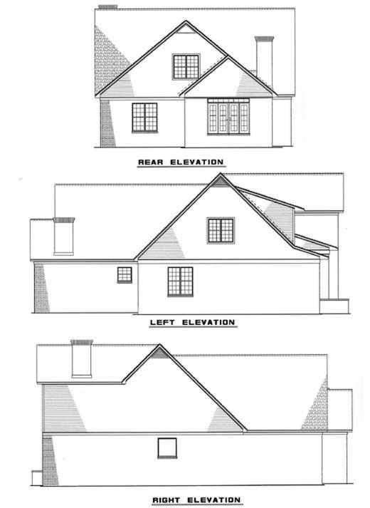 Rear Elevation Plan: 12-117