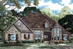 European Style House Plans 12-1170