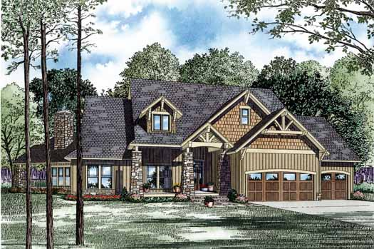 Mountain-or-rustic Style Home Design Plan: 12-1172