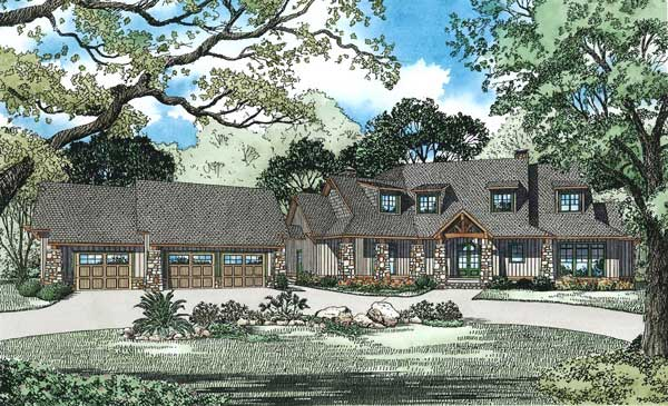 Mountain-or-rustic Style Floor Plans Plan: 12-1174