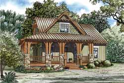 Mountain-or-Rustic Style House Plans Plan: 12-1179