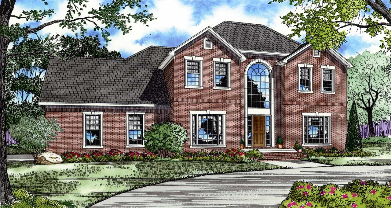 French-country Style Floor Plans Plan: 12-118