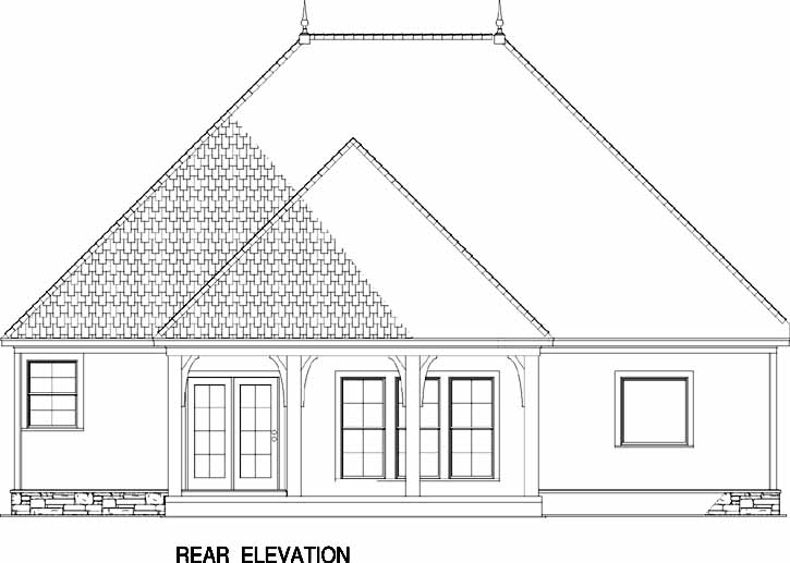 Rear Elevation Plan: 12-1182