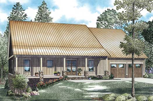 Mountain-or-rustic Style House Plans Plan: 12-1190