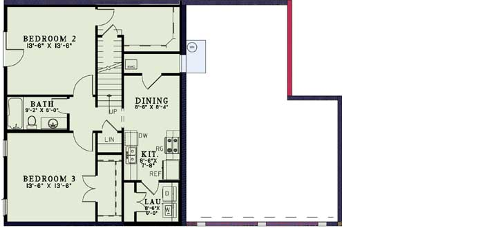 Lower Floor Plan: 12-1190