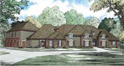 European Style House Plans Plan: 12-1193