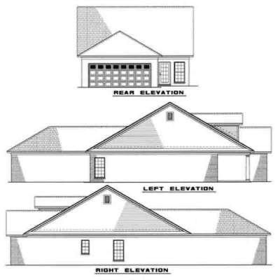 Rear Elevation Plan: 12-120