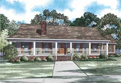 Southern Style Floor Plans Plan: 12-1203