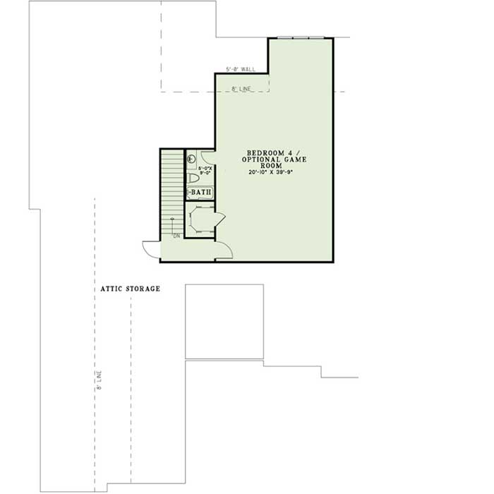 Upper/Second Floor Plan: 12-1207