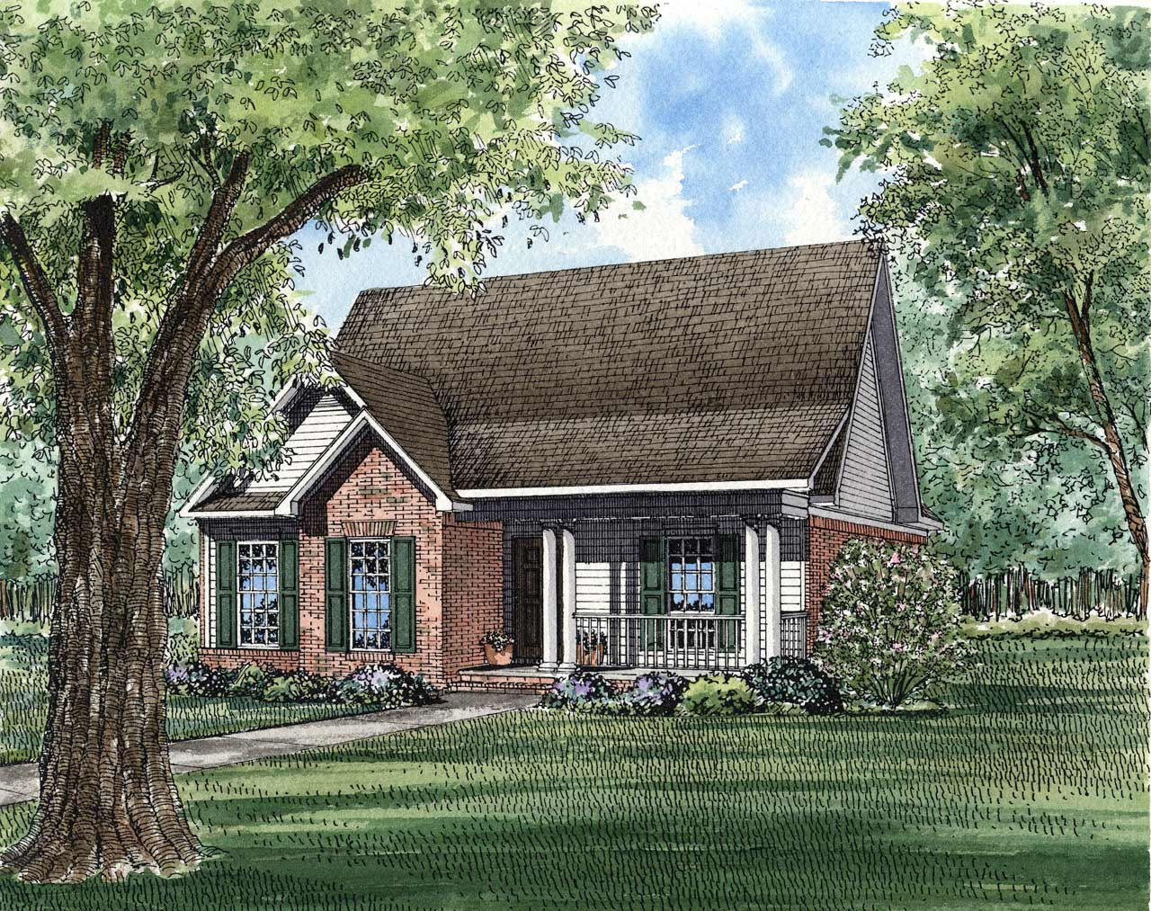Southern Style Floor Plans Plan: 12-121