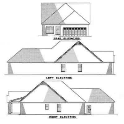 Rear Elevation Plan: 12-121