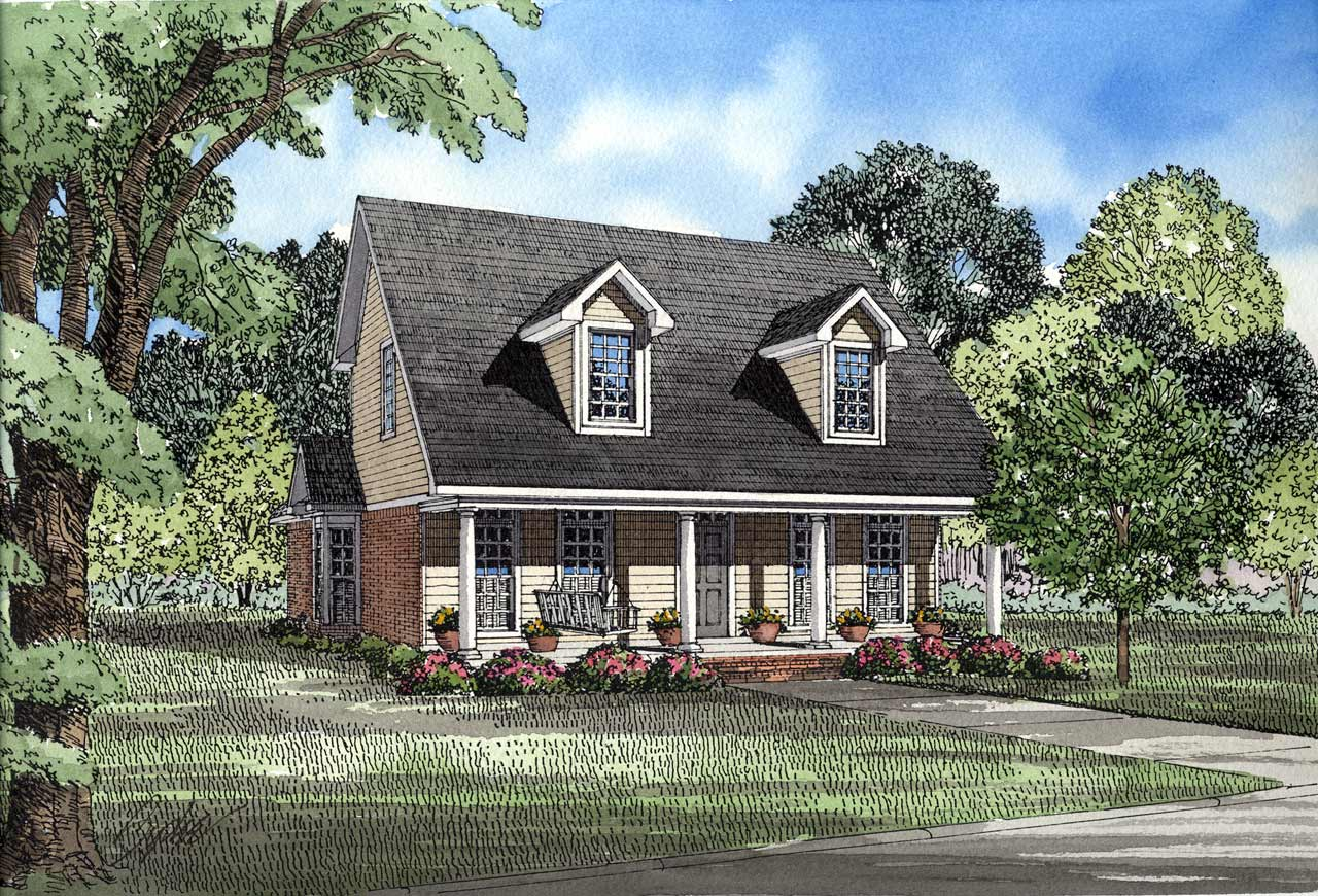 Country Style Floor Plans Plan: 12-122