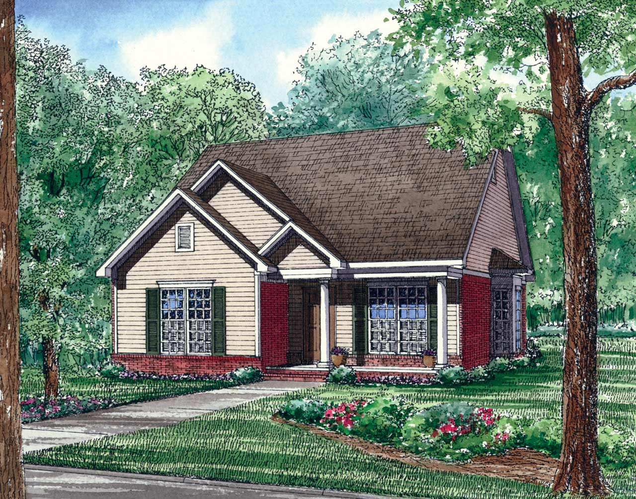 Southern Style Floor Plans Plan: 12-123