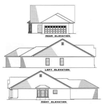 Rear Elevation Plan: 12-123