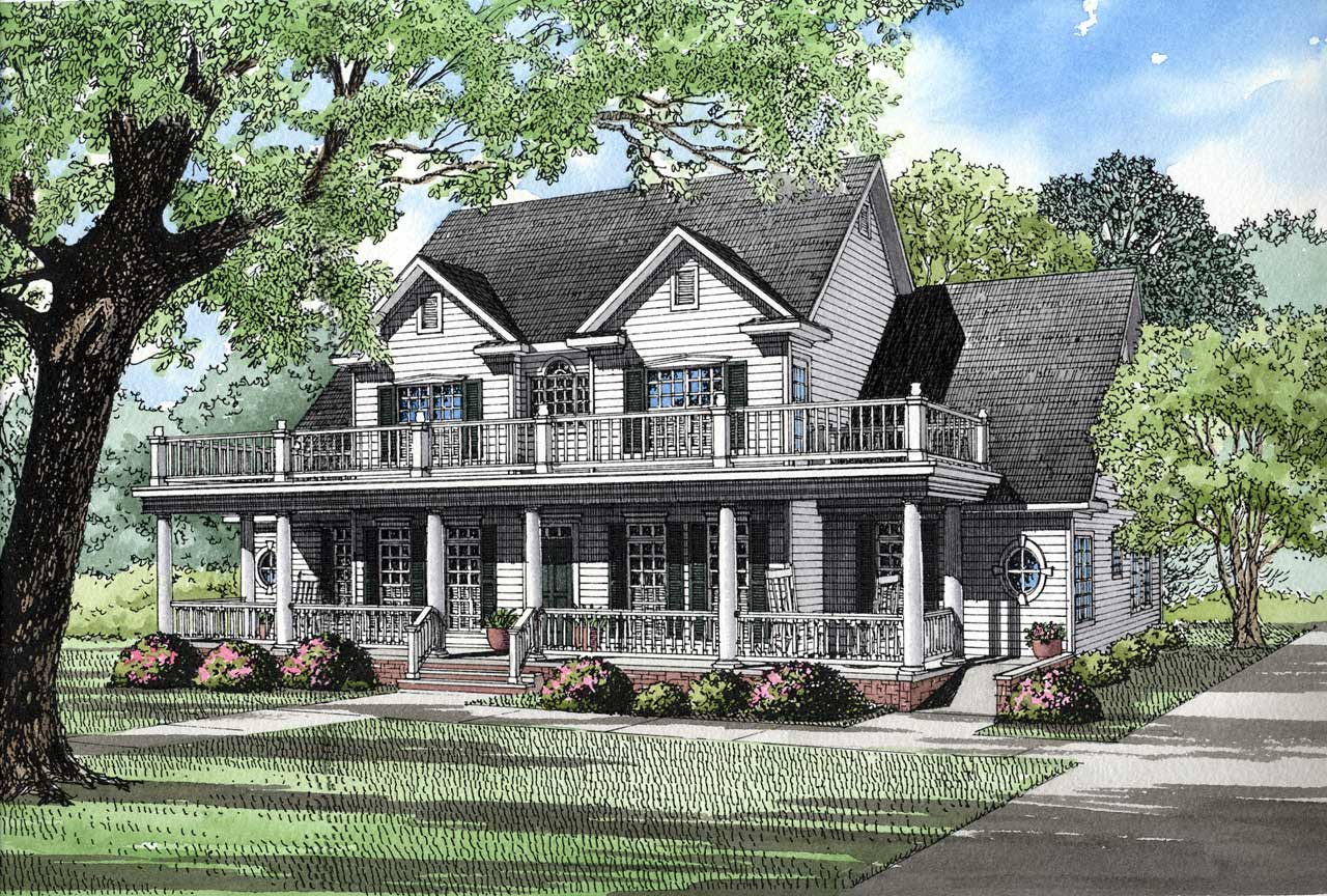 Southern Style Floor Plans Plan: 12-124