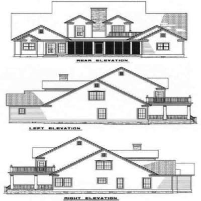 Rear Elevation Plan: 12-124