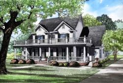Southern Style Home Design Plan: 12-124