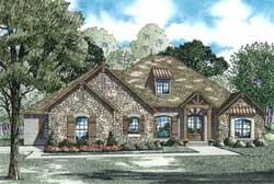 European Style Home Design Plan: 12-1243