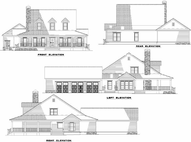 Rear Elevation Plan: 12-1245