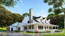 Farm Style Home Design Plan: 12-1245