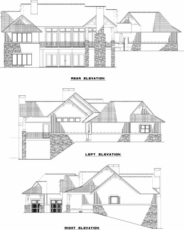 Rear Elevation Plan: 12-1246
