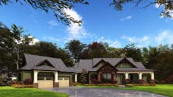Mountain-or-Rustic Style Home Design Plan: 12-1246