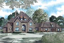 European Style House Plans Plan: 12-1249