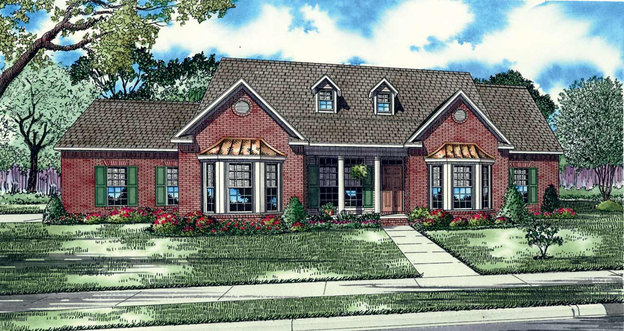 Southern Style Floor Plans Plan: 12-125