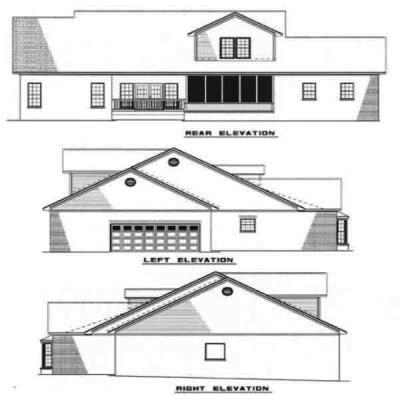 Rear Elevation Plan: 12-125