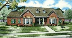 Southern Style Home Design Plan: 12-125