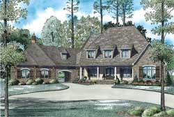 European Style House Plans Plan: 12-1250