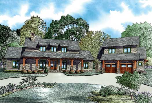 Mountain-or-Rustic Style House Plans Plan: 12-1256