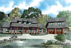 Mountain-or-Rustic Style Home Design Plan: 12-1256