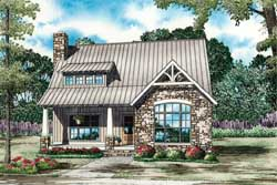 Craftsman Style Home Design Plan: 12-1257