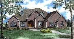European Style House Plans Plan: 12-1258