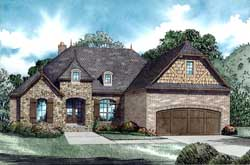 French-Country Style House Plans Plan: 12-1263