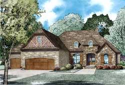 European Style House Plans Plan: 12-1268