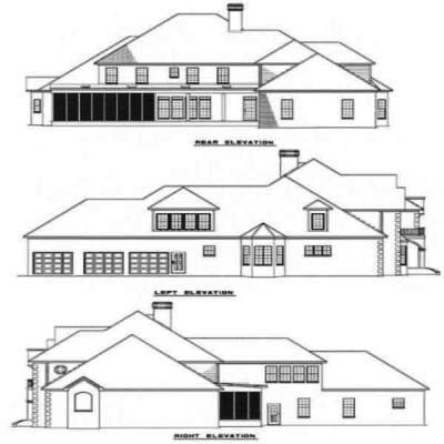 Rear Elevation Plan: 12-127