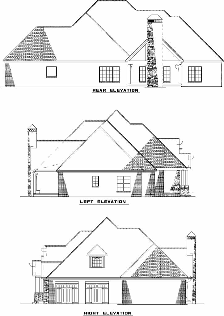 Rear Elevation Plan: 12-1271