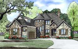 European Style House Plans Plan: 12-1274