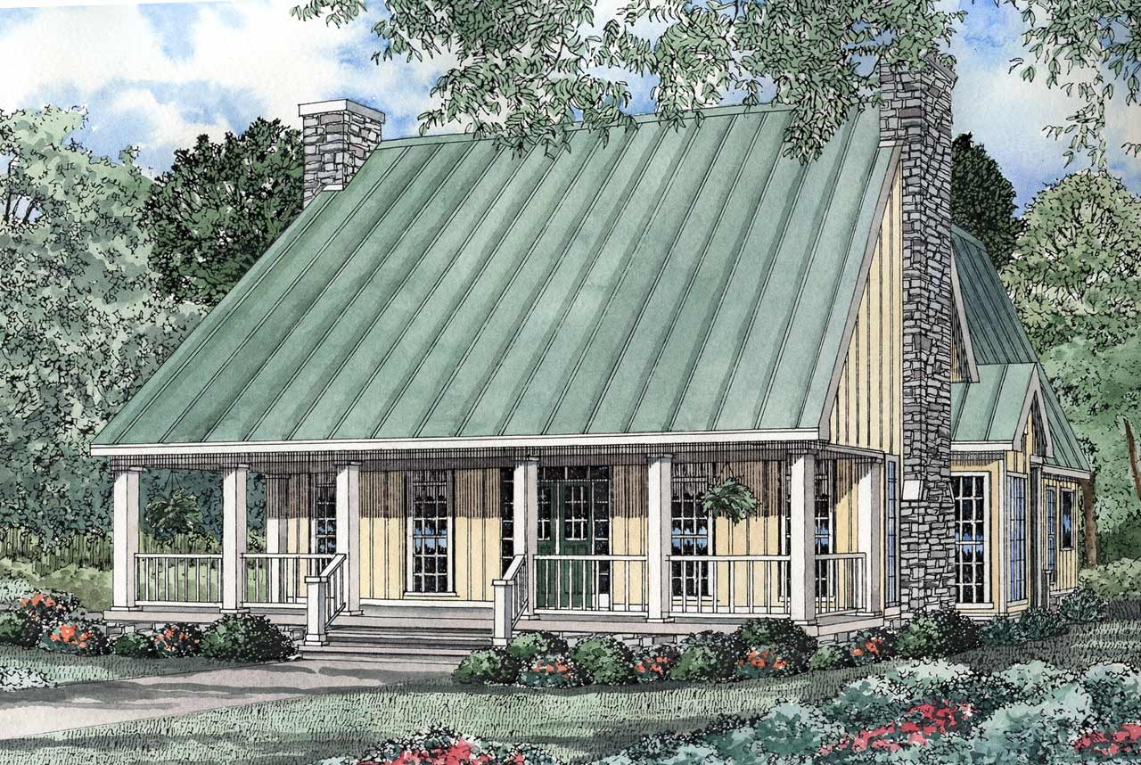 Country Style Home Design Plan: 12-128