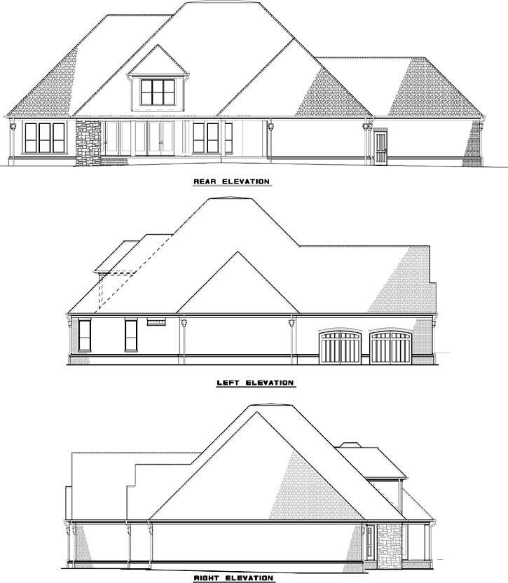Rear Elevation Plan: 12-1282