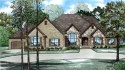 European Style House Plans Plan: 12-1282