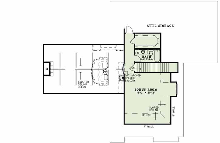 Upper/Second Floor Plan: 12-1287