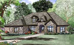 European Style Home Design Plan: 12-1288