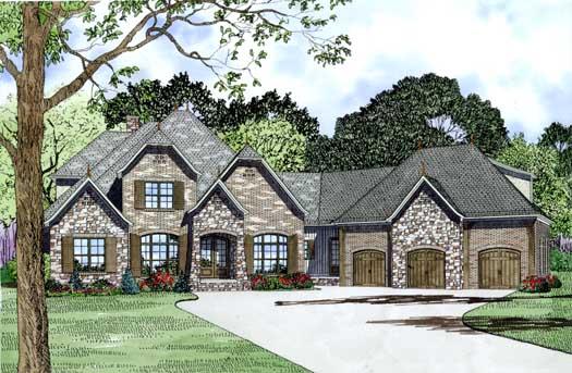 European Style House Plans Plan: 12-1289