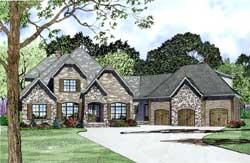 European Style Home Design Plan: 12-1289