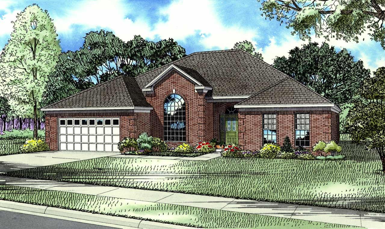European Style House Plans Plan: 12-129