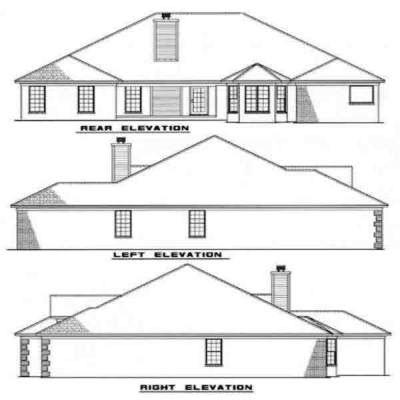 Rear Elevation Plan: 12-129
